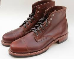 wolverine 1000 mile adrian cap toe brown leather boots w08809 size