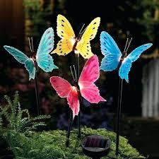 solar garden statue lawn ornaments brilliant outdoor decor fiber optic erfly stake light angel