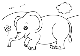 Baby Elephant Coloring Pages Getcoloringpagescom