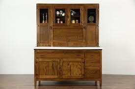 SOLD Hoosier Oak Kitchen Pantry Cupboard, Roll Top, 1915 Antique