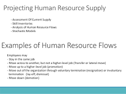 human resource planning 20 projecting human resource supply examples