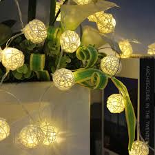 indoor string lighting. Amazon.com: InnooLight 40 Rattan Ball String Lights LEDS Christmas Indoor For Tree, Garden, Patio, Wedding, Party (Warm White): Home Lighting