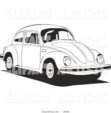 car driving clipart black and white. Delighful Driving Volkswagen Bug Car Driving To The Right In Black And White In Clipart And Y
