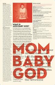 Mom Baby God Informational Poster Taylor Mulitz
