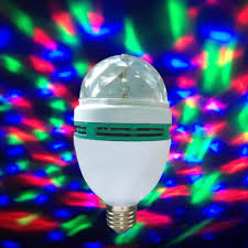 Where Can I Buy Coloured Light Bulbs Us 3 8 30 Off B22 3w Rgb Led Crystal Stage Rotate Color Light Bulb Party Disco Bar 96v 240v Disco Ball Light Lighting Effects Led Par Apj In Stage
