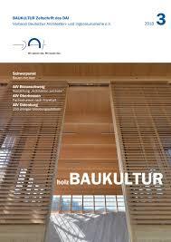 Ausgabe 32018 Holzbaukultur By Dai Verband Deutscher Architekten