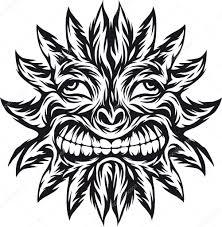 солнце север тату татуировка солнца векторное изображение Rlmf