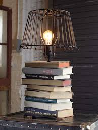 diy stacked books table lamp home decor accessories you can diy to brighten your living