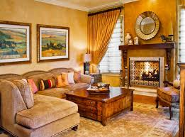 Tuscan Inspired Living Room