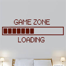 Game Zone Loading PS3 PS4 XBOX Boys Bedroom Wall Art Stickers Decals Vinyl  Home Game Room