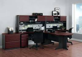 spectacular 2 person desk design top ideas two home office with hutch