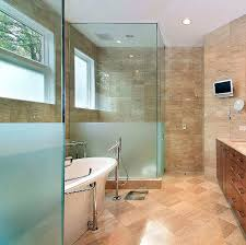 beautiful modern luxury master bathroom with recently replaced shower glass enclosures all shower