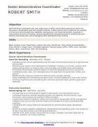 Education Coordinator Resumes Administrative Coordinator Resume Samples Qwikresume