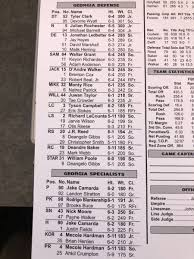 2018 Depth Chart Look Georgia Releases First Depth Chart Of The 2018 Season