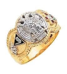 <b>Luxury</b> 32nd Degree Scottish Rite Ring | Rings, White gold, Class ring