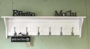 coat rack wall shelf with hooks wood