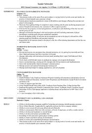 Club Manager Sample Resume Club Marketing Manager Resume Samples Velvet Jobs 6