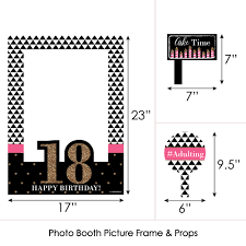 chic 18th birthday birthday party selfie photo booth picture frame props printed on sy material com