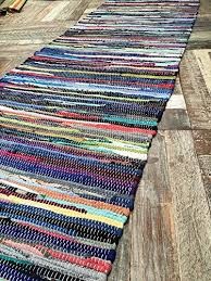 fair trade cotton multi coloured chindi rag rug