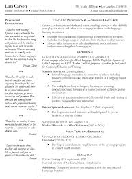 Resume Template Spanish Teacher Resume Examples Free Career