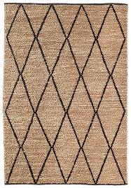 Livia <b>Diamond Pattern</b> Natural Hemp and Wool Rug