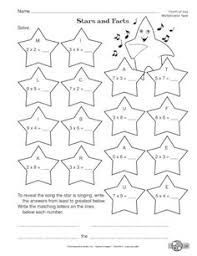 multiplication facts worksheet free from the mailbox page 2 of the printed pages includes the answer key