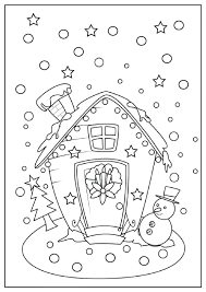 Christmas Coloring Pages For Free Printable With The Sun Flower