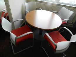 round office table and chairs for perfect design postadsuk with condition furniture amp equipment glass dining