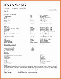 Resume Contents And Format Lovely Great Background Actor Resume
