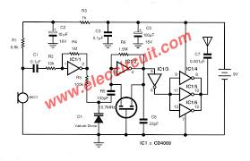 two transistors fm wireless microphone circuit electronic fm transmitter circuit out coil