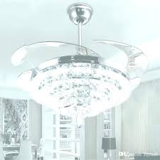 crystal chandelier ceiling fan shining led lights chandeliers best fans with u acrylic purple chandeli