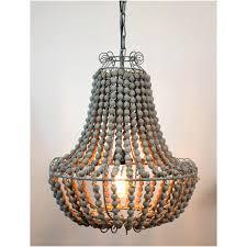 wood bead chandelier diy restoration hardware elena pottery barn