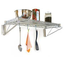Kitchen Wall Shelf 18d Wall Mounted Wire Shelving Kits Wall Shelves