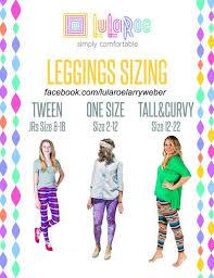 Tc Lularoe Size Chart Lularoe Sizing Chart Lularoeleggings Leggings Shop With