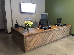 It really was a pleasure working with everyone @pktourism again. we made  this beautiful reception desk for them. Stop by for a visit.