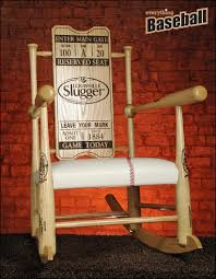 original custom made genuine baseball bat rocking chair everythingbaseballcatalog com