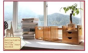 wooden office table. Wooden Office Table Rack, Desktop Retractable Bookshelves, DIY Shelves K
