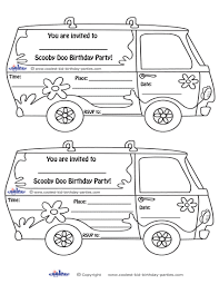 Small Picture Scoo Doo Birthday Party Invitations Printable Coloring Pages Image