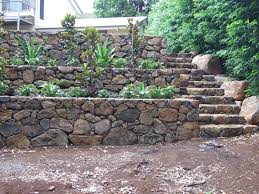 bushrock walls and stairs