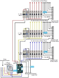 three phase wiring 3 Pole Contactor Wiring Diagram three phase wiring to home wiring diagram for coil on 3 pole contactor