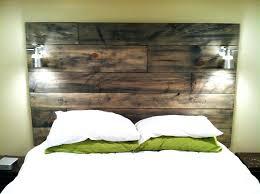 diy wood headboard homemade wood headboard plan ideas headboards designs diy reclaimed wood headboard with lights diy wood headboard