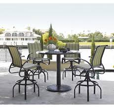 36 inch telescope casual cast aluminum square counter height patio table with pedestal base furniture for patio