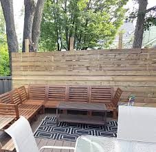 to build a privacy screen for your deck
