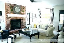 I Living Room With Brick Fireplace Paint Colors Best Colour Go