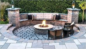 patio outdoor patio with fire pit small yard ideas unique modern gravel awesome natural pits