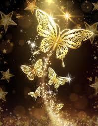 Golden Butterfly Wallpaper Download
