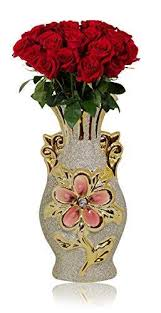 prime glitter flower vase for