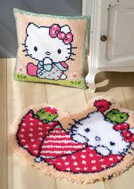 vervaco latch hook rug hello kitty in the umbrella haberdashery