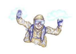 Image result for skydiving senior cartoon