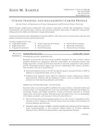 Trainer And Manager Resume throughout Gym Manager Resume